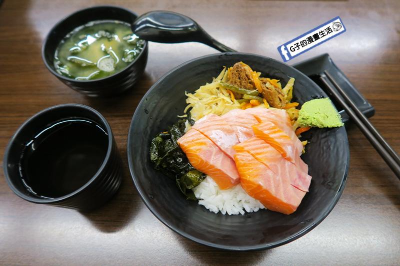 北車築地鮮魚改成築地樂樂町鮭魚丼 生魚片