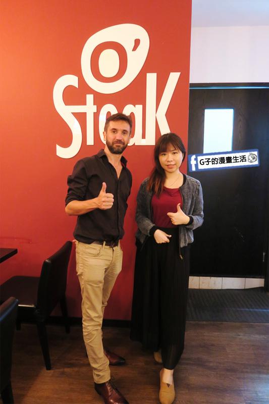 O'Steak Taipei 歐牛排法餐廳.老闆尼凱+G子合影