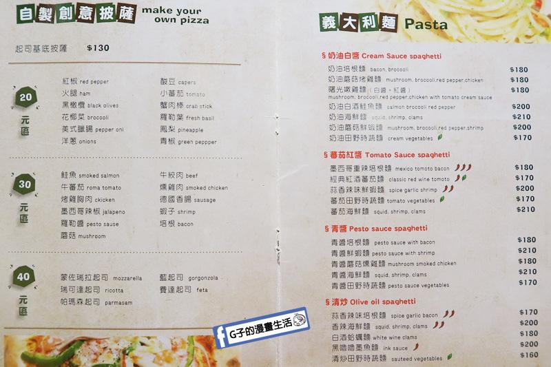 三重台北橋-DUKE'S PIZZA義式薄皮披薩菜單menu