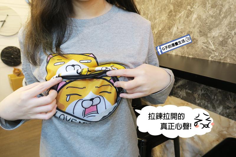 白爛貓拉鏈長袖T恤T SHIRT.白爛貓造型金屬手機指環 開箱