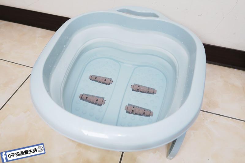 飛比充電版便攜封口機+可折疊按摩滾輪足浴盆