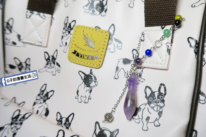 【財神小舖】能量脈輪-文昌筆吊墜鏈-紫水晶《含開光》學業.事業 包包手鍊