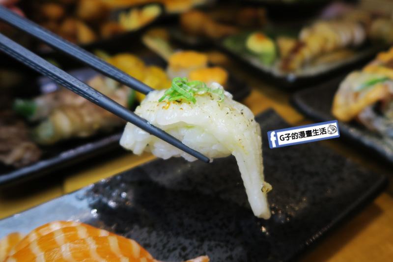 永和弄爹串燒居酒屋.鮭魚肚握壽司.比目魚鰭邊肉握壽司.海膽軍艦