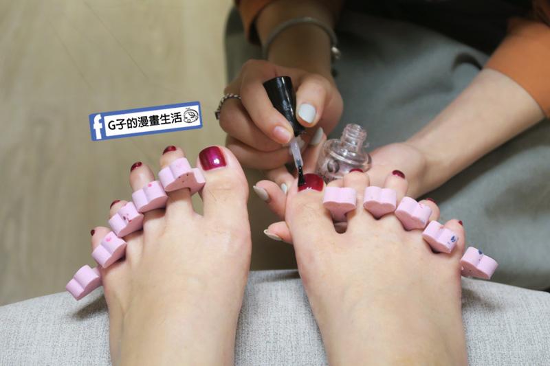 潔月兒藝術美甲Jewelle nails.大安區美甲.足部保養SPA紅糖晶亮修護.除部深層保養