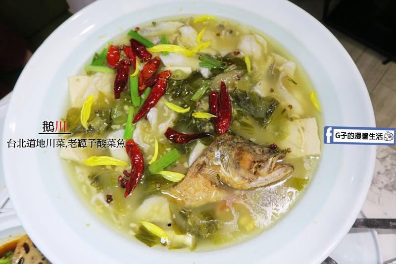 科技大樓站.鵝川.大安四川菜.酸菜魚湯.滷鵝