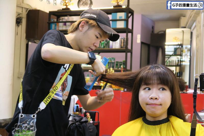 北車V秀造型髮藝.燙捲.上直下捲.髮型設計師-馬克老師.護髮