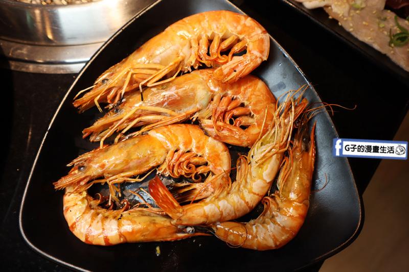 公館燒烤吃到飽-瓦崎燒烤火鍋.$599十週年慶CP值高.天使紅蝦