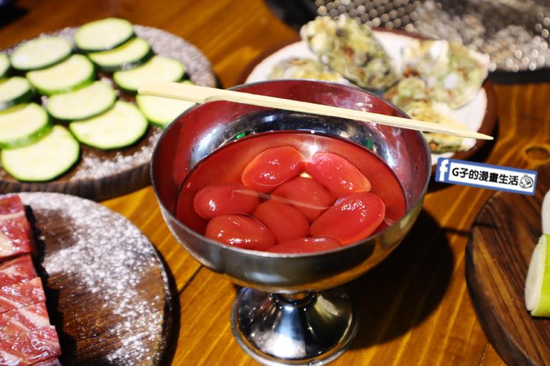 新北三重菜寮-米炭火燒肉小酒館,單點式燒烤.DIY自己烤.好酒釀番茄