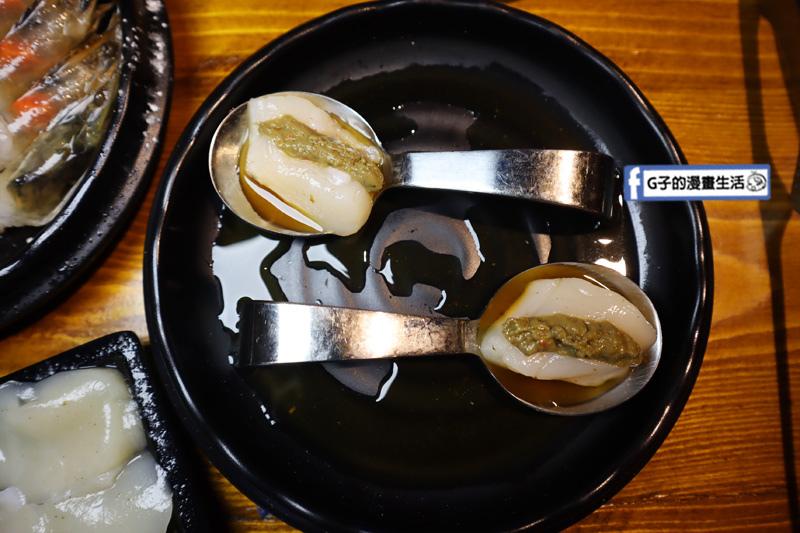 新北三重菜寮-米炭火燒肉小酒館,單點式燒烤.DIY自己烤.蟹膏生帆立貝