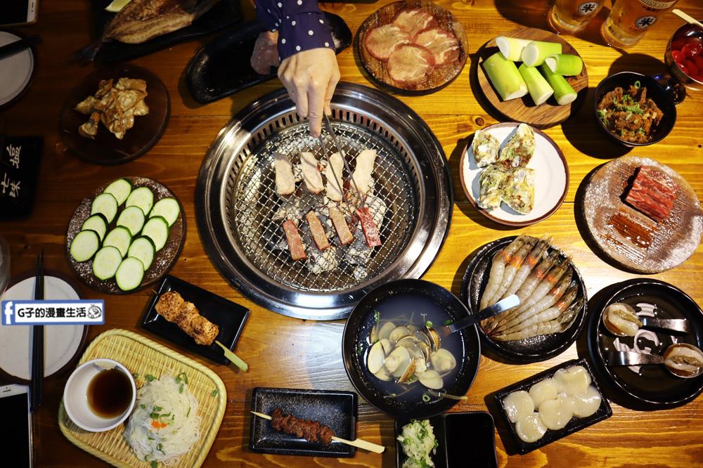 新北三重菜寮-米炭火燒肉小酒館,單點式燒烤.DIY自己烤.超好烤不黏往