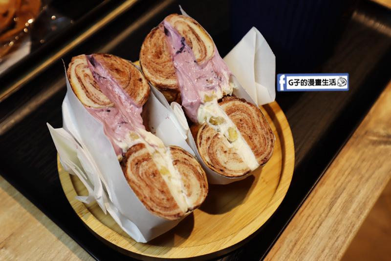 【松菸早午餐/市政府】飽貝 bo'bagel - 貝果Cafe.奶油乳酪貝果.抹醬貝果.雙醬/藍莓醬.蜂蜜核桃
