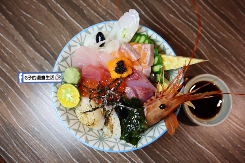 新北鰻魚飯.三重丼飯-佐佳丼飯屋.台北橋捷運站.白鰻魚飯.生魚片丼飯.鮭魚刺身.握壽司
