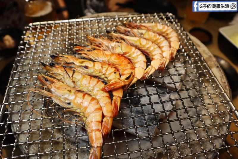 東區燒烤吃到飽.燒肉殿.天使紅蝦.草蝦.肥豬蝦