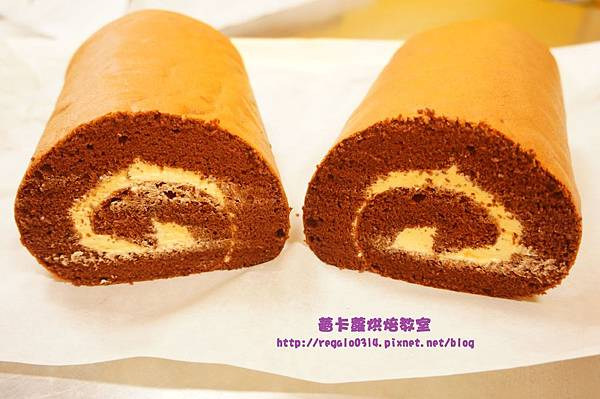 戚風巧克力蛋糕捲