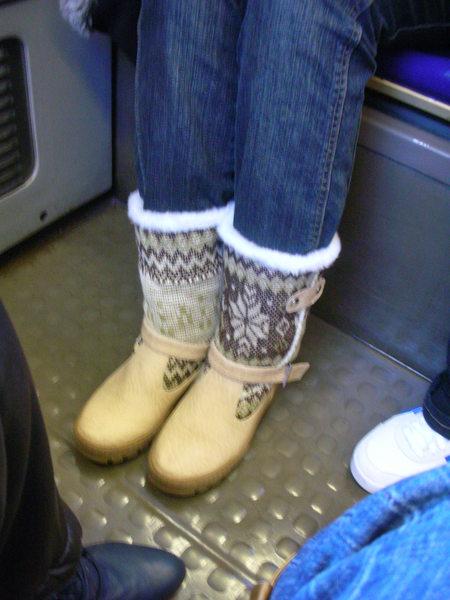 今天穿上我的新靴子