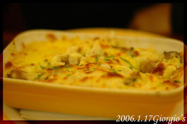 雞肉蘑菇奶油焗飯