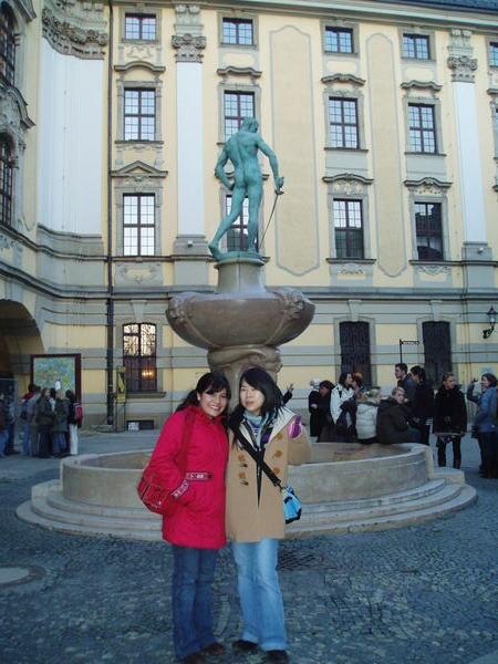 Wroclaw大學前面的雕像