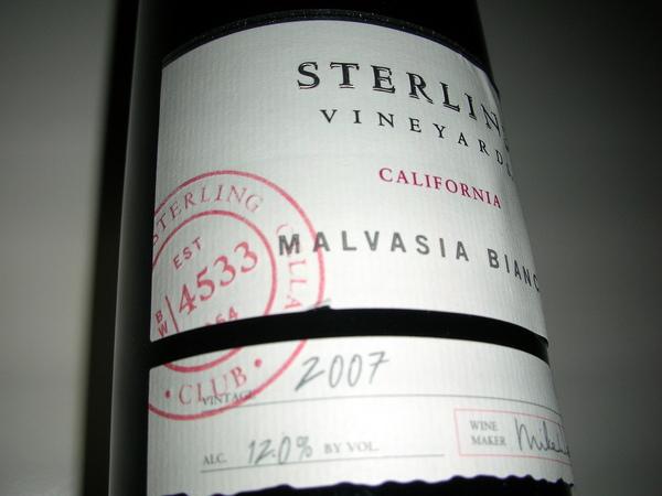 Sterling的白酒-非常fruity
