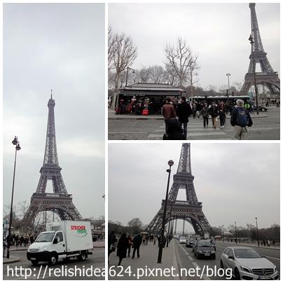 接近巴黎鐵塔