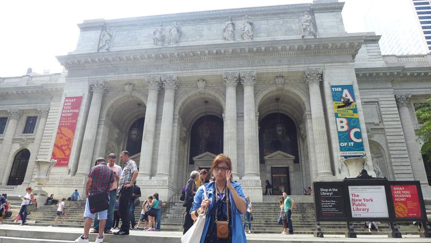 紐約市立圖書館正門