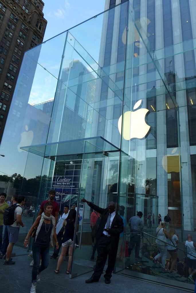 第五大道上的Apple旗艦店