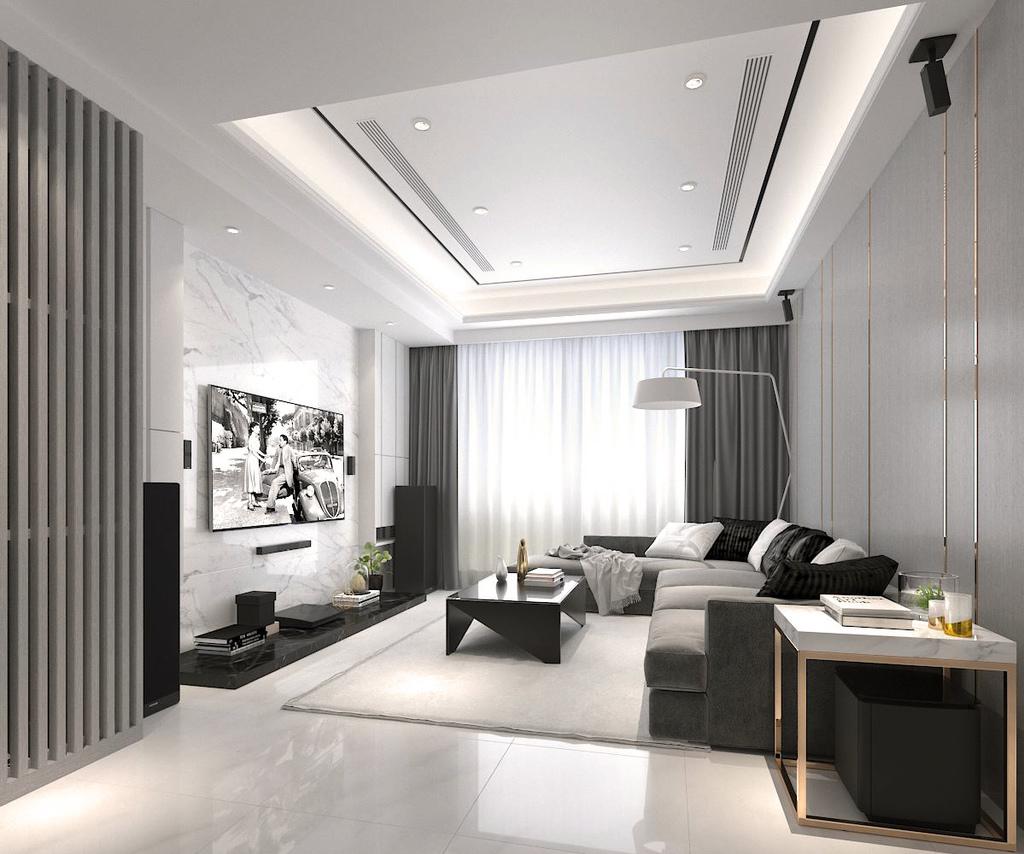 現代客廳3D