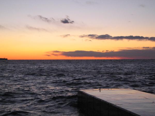 海邊的晚霞