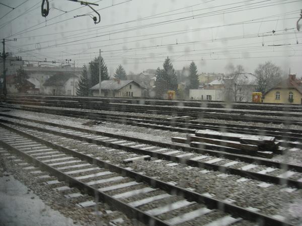 積雪的鐵路