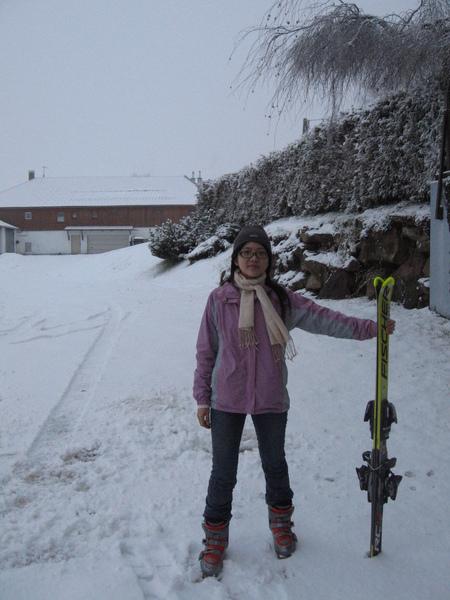 我和ski雪板