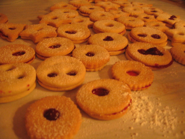 完成後的果醬餅乾