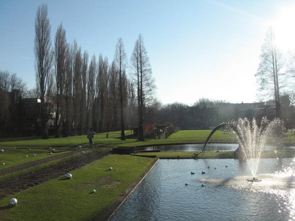 Museum Boijmans Van Beuningen美術館的庭園