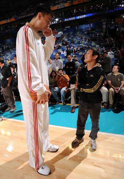 yao ming and jet li