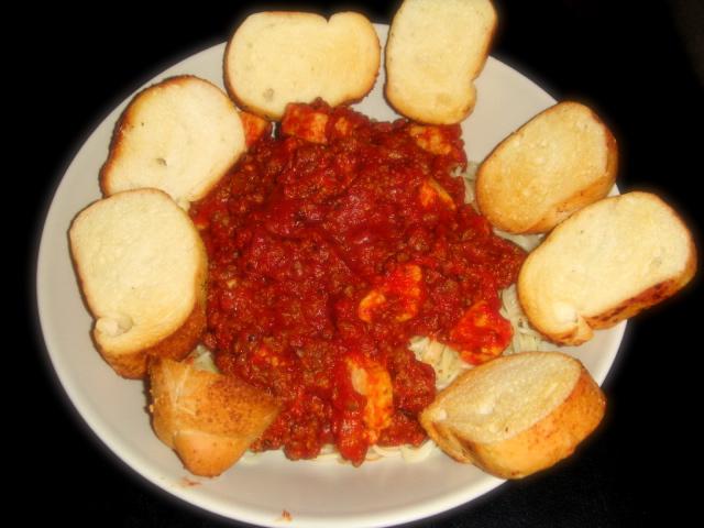 我做的素食義大利麵