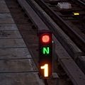轉轍器:正位(N)未開通(紅)