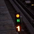 轉轍器:正位(N)已開通(黃)