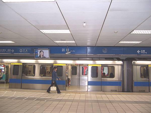 台北車站.昆陽→ ②月台 新埔 XINPU ←永寧