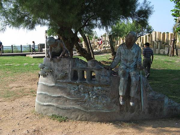 外婆的澎湖灣塑像