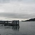 又在施工的淡水碼頭