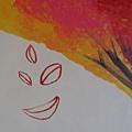落葉組成的微笑