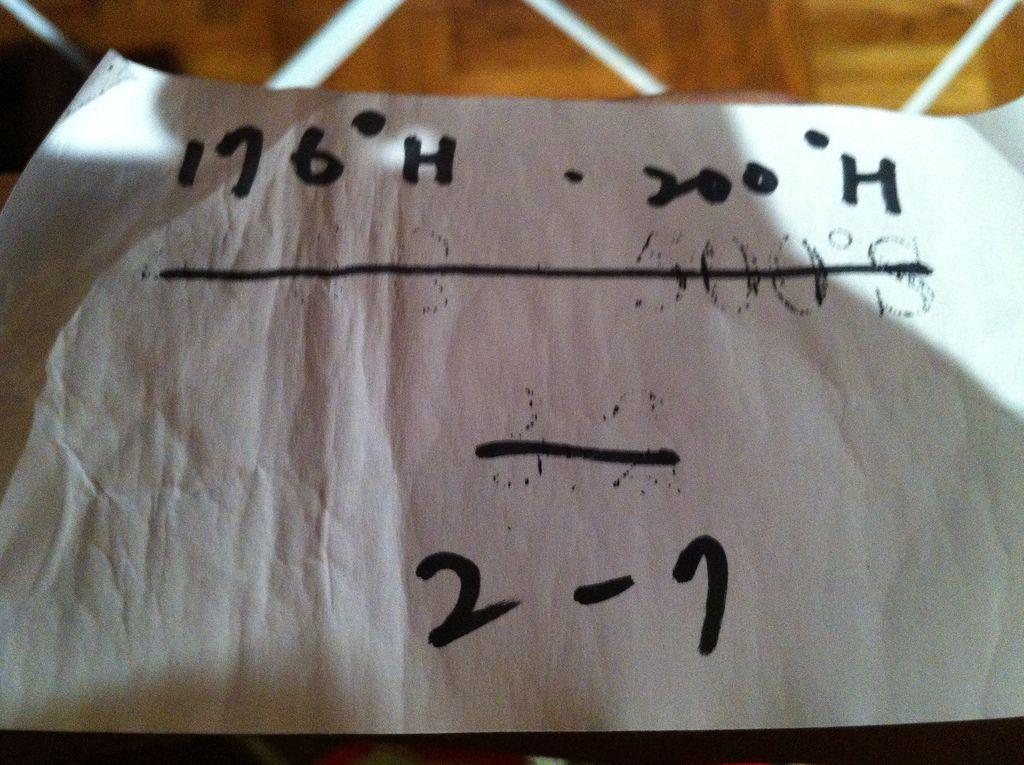座標 176°H 200°H 2-7
