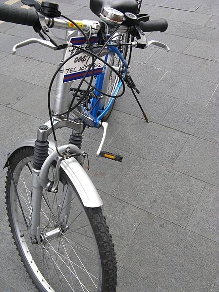 陪我一起跑完行程的腳踏車