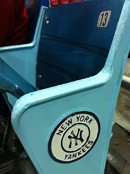 從洋基球場拆來的座椅