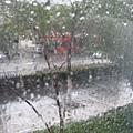 離開杭州,下雨