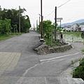 天送埤站附近的道路,皆已不見鐵軌之蹤影