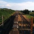 新埔火車站天橋上俯拍
