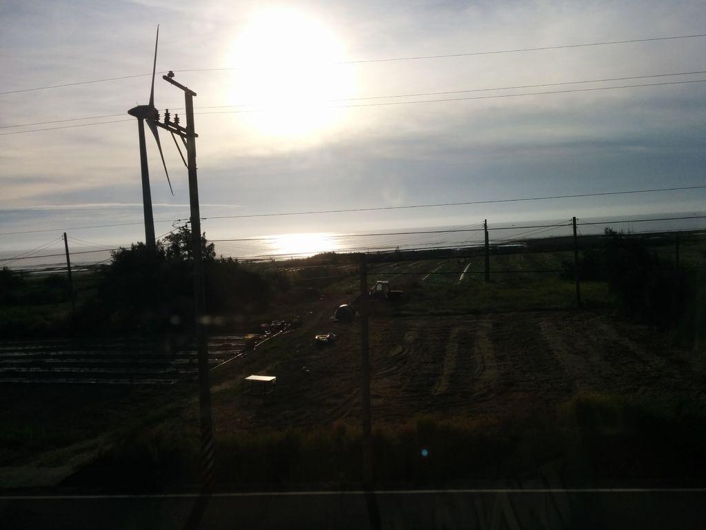 新埔往大山區間車窗外景色