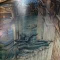 捷運站地上的 3D 畫