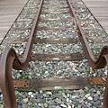 下淡水溪舊鐵橋上的止衝擋