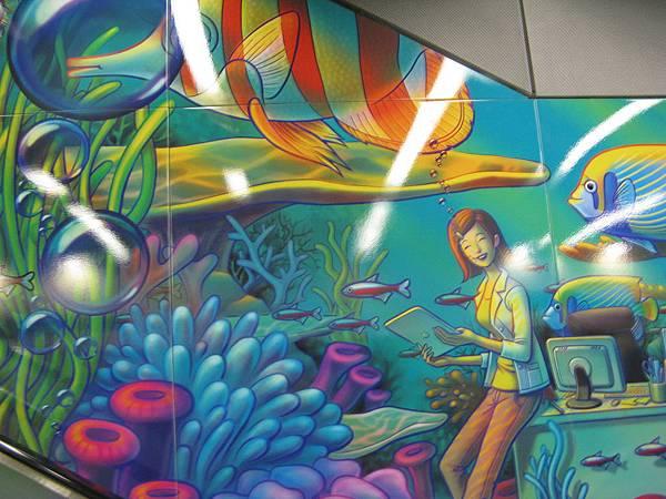 松江南京站壁畫