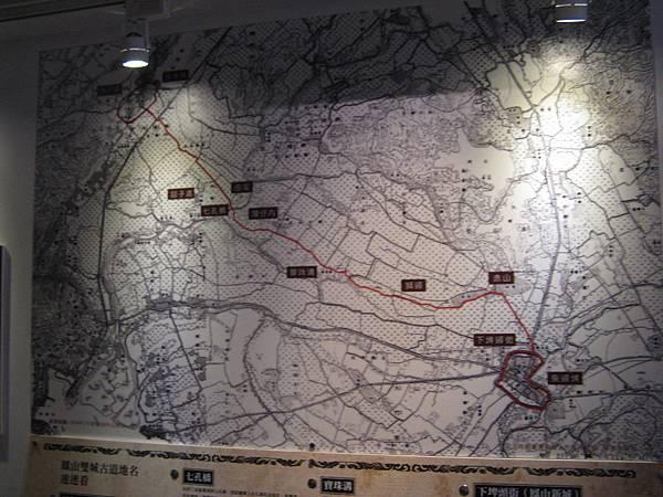 鳳山雙城古道地名地圖